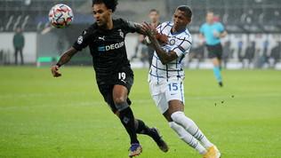 'Gladbach-Inter, le immagini del match