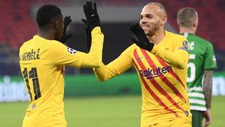Tris Barça, il Bruges spera. Il PSG batte lo United, poker Chelsea