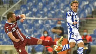 Frenano Real Sociedad e Cluj, poker Arsenal e Benfica | Avanti Bayer e Rangers