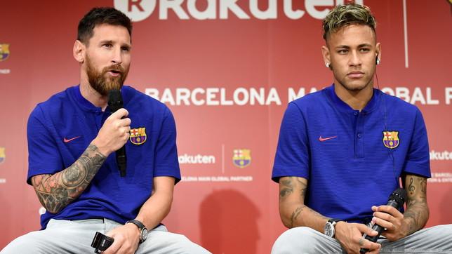 """Al-Khelaifi dribbla come Messi: """"Al PSG? Leo è del Barcellona..."""""""