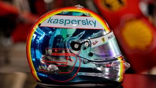 Vettel, un casco che acceca Sakhir
