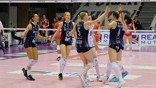Chieri e Novara dominanti: doppio 3-0 su Bergamo e Perugia