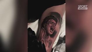"""Insigne, super tatuaggio di Maradona: """"Meraviglioso"""""""