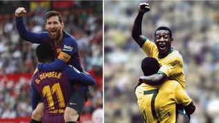 Messi come Pelè: la Pulce nella storia del calcio