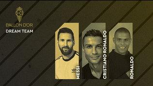 Dream Team da Pallone d'Oro: anche Maldini con Maradona, Pelé, Messi e CR7