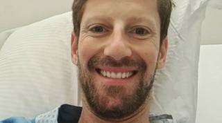 """Grosjeanoperato alla mano: """"Sto bene, solo un po' di dolore"""""""