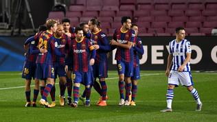 Barcellona, tre punti d'oroin rimonta contro la Real Sociedad