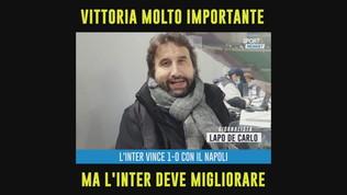 """Lapo De Carlo: """"Vittoria molto importante, ma l'Inter deve migliorare"""""""