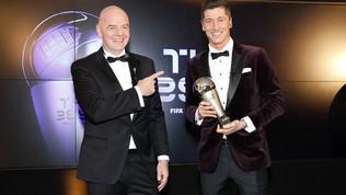 La prima volta di Lewandowski: è il migliore del 2020