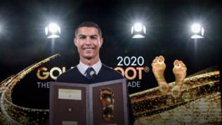 "Ronaldoriceve ilGolden Foot Award: ""Un onore questo premio"""