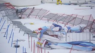 Bufera di vento a Semmering:rinviata la seconda manche del gigante donne