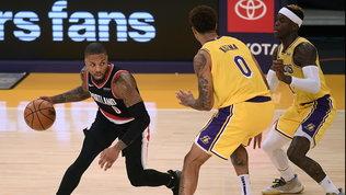 Lillard affonda i Lakers, Atlanta (senza Gallinari) fa tre su tre