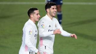 Vazquez ed Asensio stendono il Celta: il Real vola in vetta