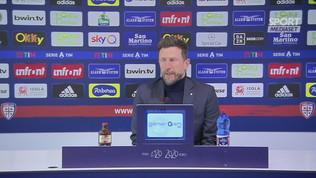 """Cagliari, Di Francesco: """"Il Napoli ci è stato superiore"""""""