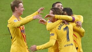 Messi trascina il Barcellona: 3-2 all'Athletic Bilbao e terzo posto
