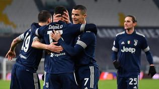 Il Sassuolo (in 10) spaventa la Juve, ok solo nel finale:Pirlo al 4° posto