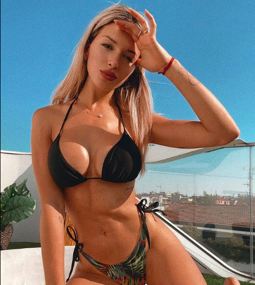 <p>Agustina Gandolfo, fidanzata di Lautaro Martinez</p>