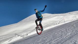 Corsa e monociclo sulle piste da sci? Si può fare!