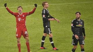 Bundesliga: Bayern campione d'inverno, 2-1 al Friburgo e +4 sul Lipsia