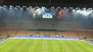 Inter-Juve, fuochi d'artificio fuori da San Siro