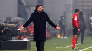 """Gattuso: """"Episodi decisivi, la sconfitta non è colpa di Insigne"""""""