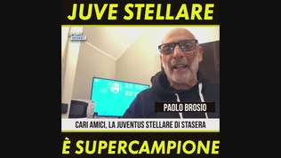 """Paolo Brosio: """"Juve stellare, è supercampione"""""""