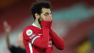 Il Liverpool crolla in casa dopo 4 anni, la vetta ora dista seipunti