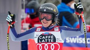 """Goggia: """"Sul podio con Elena Curtoni: la felicità è doppia"""""""