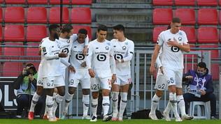 Il Lille vince e riaggancia il Psg in vetta   Alle 21 il Lione