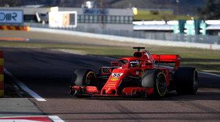 Carlos Sainz jr, prima voltaal volante della Ferrari