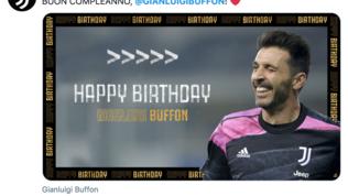 Buffon compie 43 anni, gli auguri social