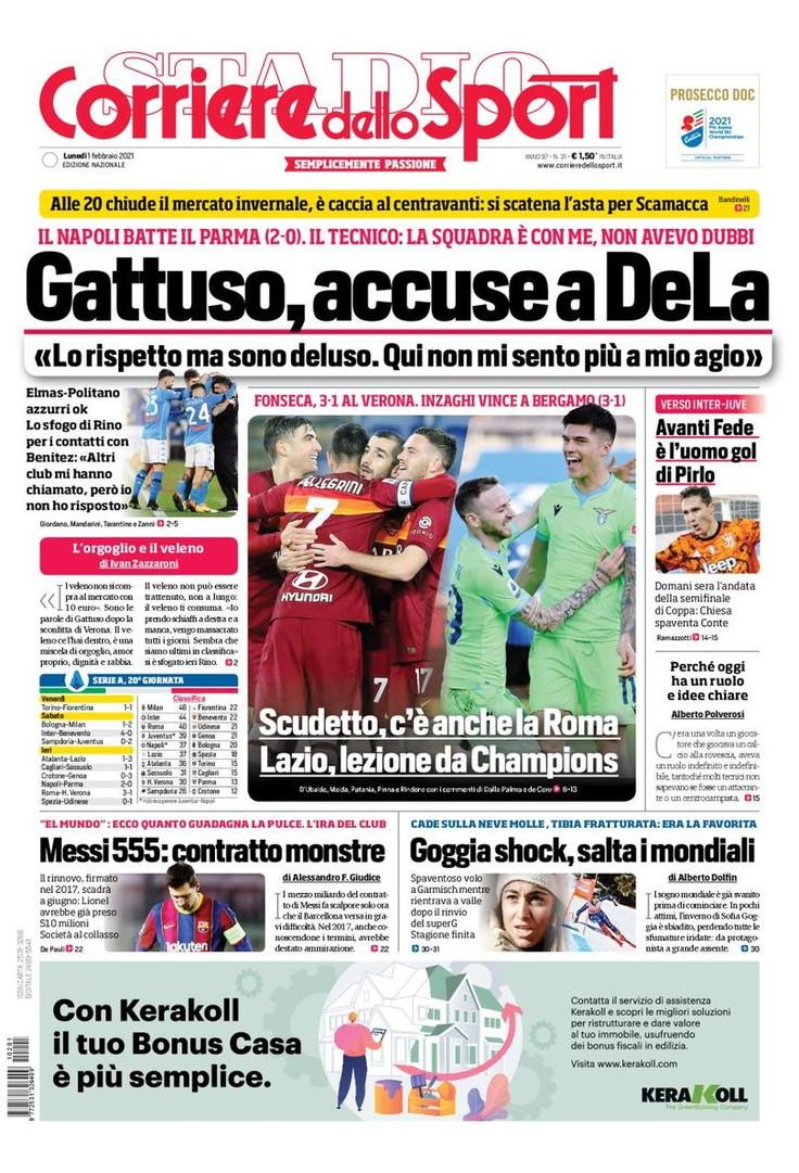Le prime pagine, e non solo, dei quotidiani italiani ed esteri oggi in edicola<br /><br />