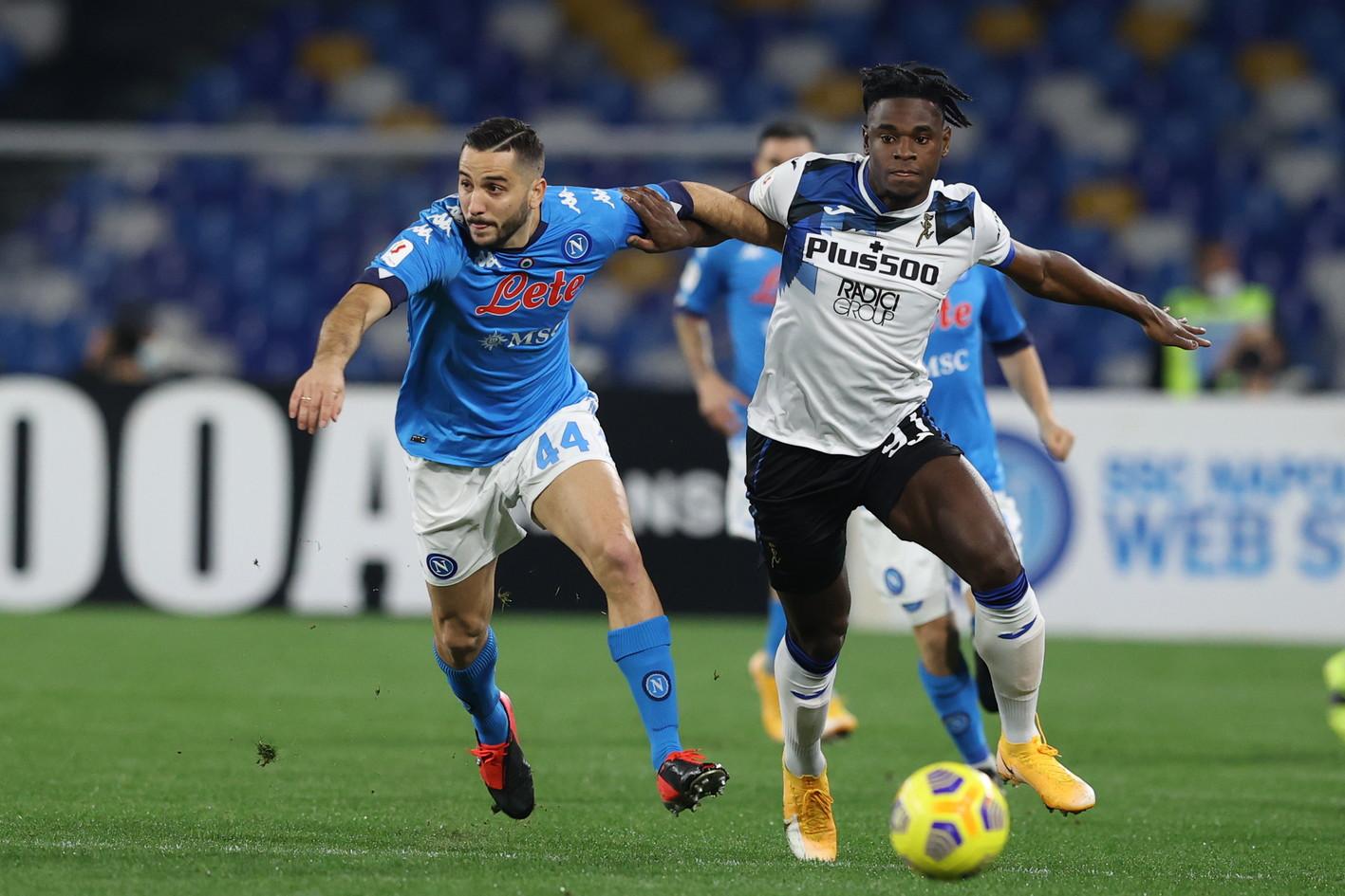 Napoli-Atalanta 0-0, le migliori immagini dell&#39;andata della semifinale di Coppa Italia.<br /><br />