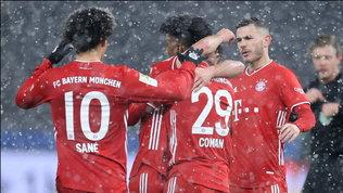 Neanche la bufera ferma il Bayern: Hertha ko e fuga in vetta