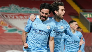 City, poker da sballo e fuga in vetta: il Liverpool si inchina