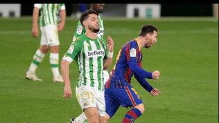 Liga: il Barcellona riagguanta il Real, 3-2 al Betis