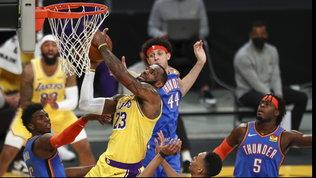 Decide King James: Lakers ok ancora all'overtime | IBucks passano a Denver