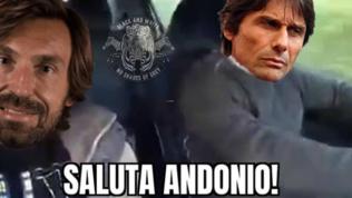 Juve-Inter, i meme: Pirlo saluta Conte, Agnelli coi guantoni