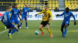 Haaland salva il Dortmund, Leverkusen rimontato nel recupero