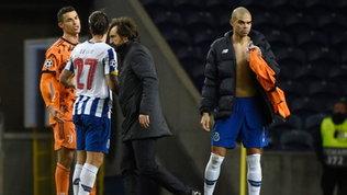 """Furia Ronaldo:chiedeva il rigore. Chiesa: """"Al ritorno serve un'altra Juve"""""""