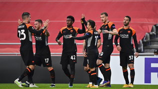 Sporting Braga-Roma 0-2: ottavi più vicini grazie a Dzeko e Mayoral