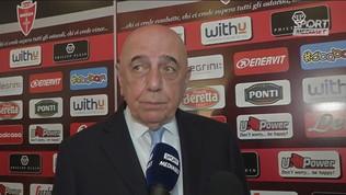 "Galliani: ""Tifo Monza e Milan"""