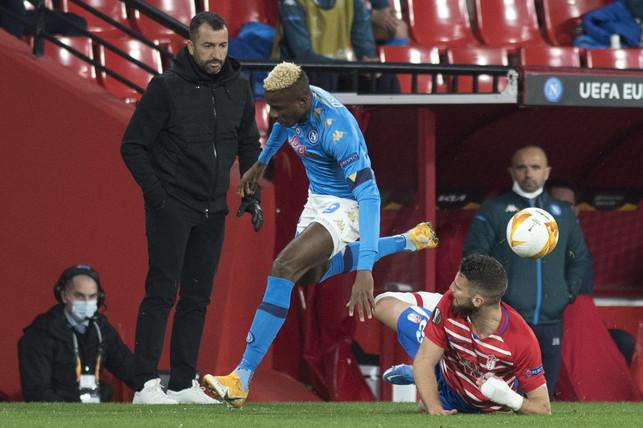 Granada-Napoli 2-0, le migliori foto dell&#39;andata dei 16esimi di Europa League.<br /><br />