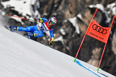 L&#39;azzurro conquista il secondo posto a Cortina 2021.<br /><br />