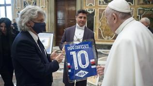 Ranieri, Ferrero e tutta la Samp in visita a Papa Francesco
