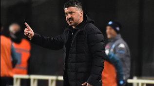 """Gattuso: """"Rimonta? Stanchi e con l'acqua alla gola, ma dobbiamo provarci"""""""