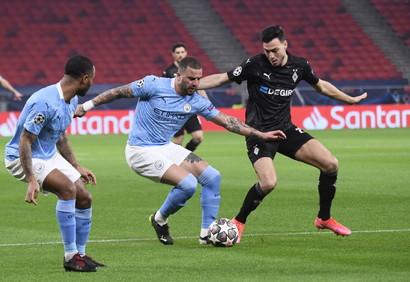 La squadra di Guardiola si impone per 2-0 nell&#39;andata degli ottavi: a segno Bernardo Silva e Gabriel Jesus<br /><br />