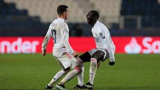 L'Atalanta in 10 cede nel finale al Real: Mendy fa gioire Zidane