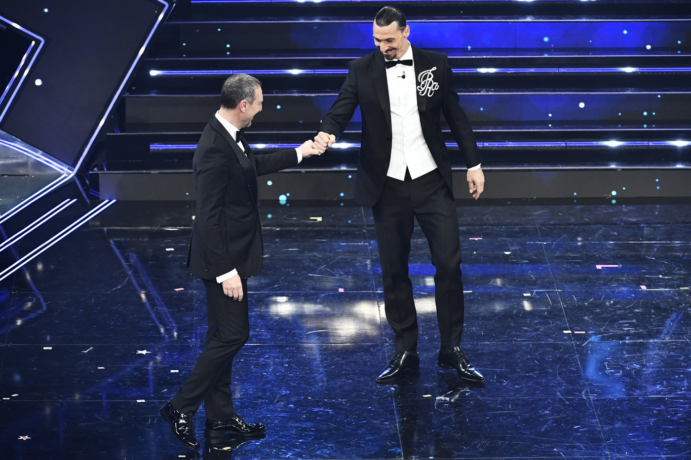 La prima volta sul palco dell&#39;Ariston per Zlatan.<br /><br />