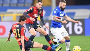 Pari tra Genoa e Samp, Rugani trascina il Cagliari. Il Verona cala il tris